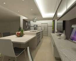 Cocinas de estilo minimalista por OPFA Diseños y Arquitectura