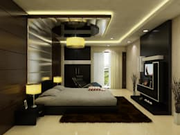 Greater Kailash Residence : modern Bedroom by The Brick Studio
