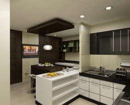 Kitchen: modern Kitchen by The Brick Studio