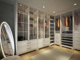 yücel partners – İ&M YILDIZ EVİ: modern tarz Giyinme Odası
