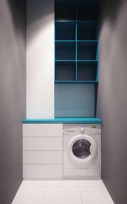 Vestidores y closets de estilo minimalista por Надежда  Шульга