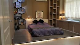Modern contemporary : modern Bedroom by Alecc Interior Design