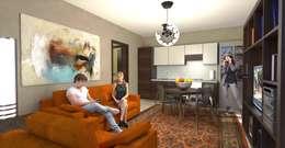 Salas / recibidores de estilo moderno por Planet G