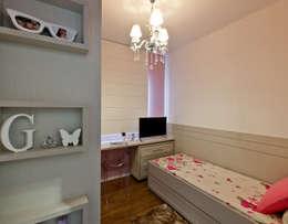 غرفة نوم تنفيذ Mendonça Pinheiro Interiores