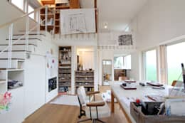 eclectic Media room by MimasisDesign [ミメイシスデザイン]