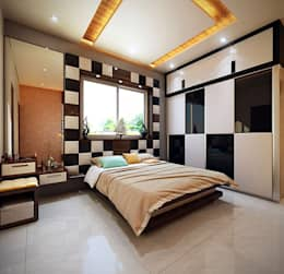 residential interiors: modern Bedroom by Studio Polygon