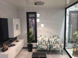 minimalistic Living room by KITUR