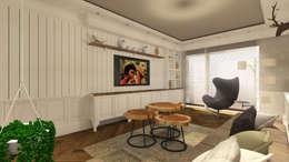 rustic Living room by Gümüşcü Mimarlık