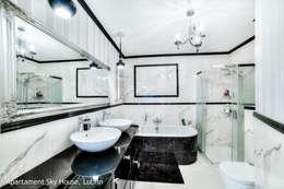 apartament II SKYHOUSE Lublin: styl , w kategorii Łazienka zaprojektowany przez Auraprojekt