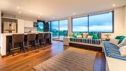 Casa del Patio Ecuestre: Salas de estilo moderno por David Macias Arquitectura & Urbanismo