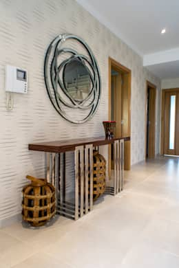 modern Corridor, hallway & stairs by Atelier  Ana Leonor Rocha