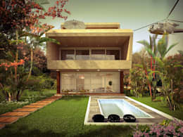 private bungalow: modern Houses by KARU AN ARTIST