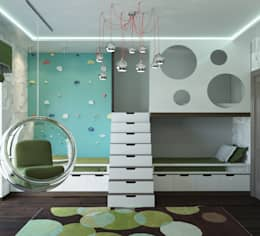 modern Nursery/kid's room by AT3D