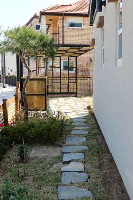 Jardines de estilo moderno por 꿈꾸는목수