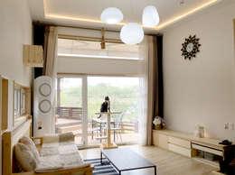 modern Living room by 꿈꾸는목수