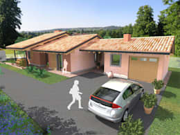Casas de estilo  por DBIOSTUDIO