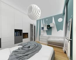 modern Nursery/kid's room by Niemniej Architekci