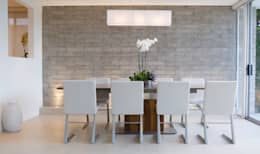 minimalistic Dining room by Gracious Luxury Interiors