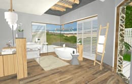 open plan ensuite:  Hotels by Kirsty Badenhorst Interiors