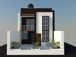 DISEÑO - VIVIENDA UNIFAMILIAR: Casas de estilo moderno por BIANGULO DISEÑO Y CONSTRUCCION S.A.C.