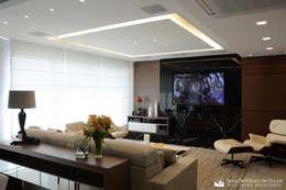 Residência Felipe de Oliveira: Salas de estar modernas por Tania Bertolucci  de Souza     Arquitetos Associados
