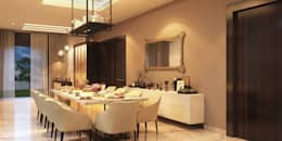 Bungalow at Undri: modern Dining room by Space Craft Associates