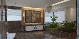 Bungalow at Undri: modern Bathroom by Space Craft Associates