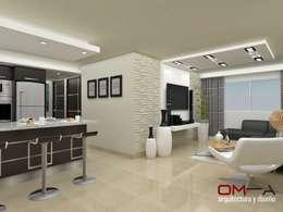 Cocinas de estilo moderno por om-a arquitectura y diseño