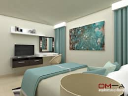modern Bedroom by om-a arquitectura y diseño
