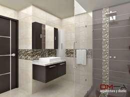 modern Bathroom by om-a arquitectura y diseño