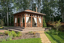 Уличные шторы для беседки: Tерраса в . Автор – DECOR OUTDOOR