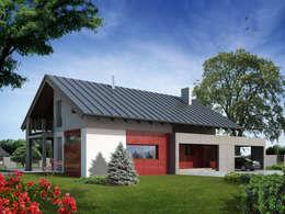 Wizualizacja projektu domu Onyks: styl nowoczesne, w kategorii Domy zaprojektowany przez Biuro Projektów MTM Styl - domywstylu.pl
