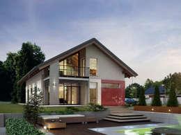 Maisons de style de style Moderne par Biuro Projektów MTM Styl - domywstylu.pl