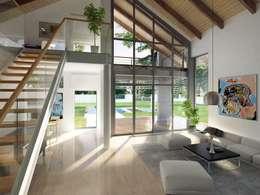 Livings de estilo moderno por Biuro Projektów MTM Styl - domywstylu.pl