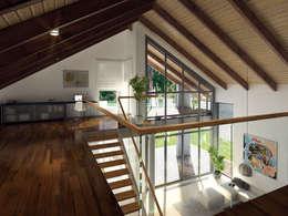 Wnętrze projektu domu Onyks: styl , w kategorii Korytarz, przedpokój zaprojektowany przez Biuro Projektów MTM Styl - domywstylu.pl