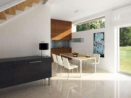 Wnętrze projektu domu Onyks: styl , w kategorii Jadalnia zaprojektowany przez Biuro Projektów MTM Styl - domywstylu.pl