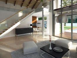 Wnętrze projektu domu Onyks: styl , w kategorii Salon zaprojektowany przez Biuro Projektów MTM Styl - domywstylu.pl