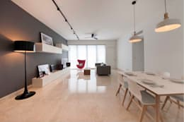 THE TESSARINA: minimalistic Dining room by Eightytwo Pte Ltd