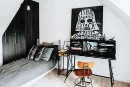 غرفة نوم تنفيذ Katie Malik Interiors