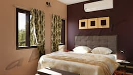 Residential Projects: minimalistic Bedroom by Abahir Interiors