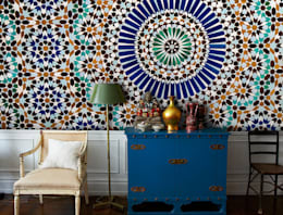 Moroccan Tiles: colonial Living room by Pixers