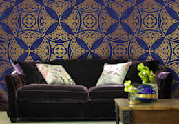 Oriental Pattern: colonial Living room by Pixers
