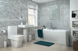 Black&White waves: modern Bathroom by Pixers