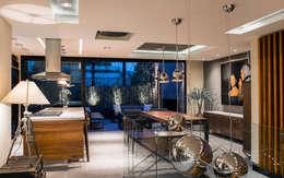 La Fontaine : Comedores de estilo moderno por Sobrado + Ugalde Arquitectos