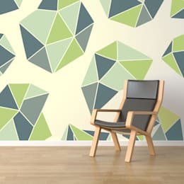 Green Diamonds : minimalistic Living room by Pixers