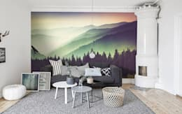 Mountains and haze: eclectic Living room by Pixers