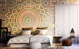 Oriental Mosaic: colonial Bedroom by Pixers