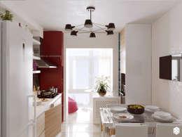 """Кухня в современном стиле """"Разноцветные маки"""": Кухни в . Автор – 2GO Design Studio"""