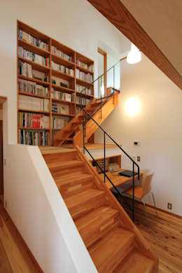 scandinavian Corridor, hallway & stairs by 藤松建築設計室