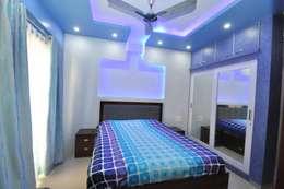 Hennur, Banaglore Project: modern Bedroom by Kriyartive Interior Design